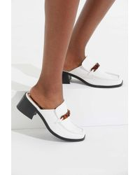 Urban Outfitters - Uo Gia Chain Trim Heeled Loafer - Lyst