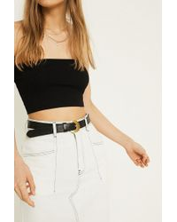 Urban Outfitters - Crescent Buckle Leather Belt - Lyst