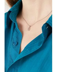 Urban Outfitters | Rhinestone Wishbone Necklace | Lyst
