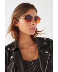 Urban Outfitters - Far Out Translucent Metal Aviator Sunglasses - Lyst