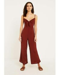 Faithfull The Brand - Presley Cropped Tie-front Voile Jumpsuit - Lyst