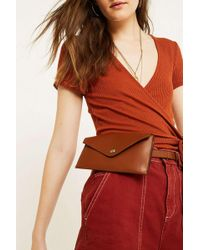 Urban Outfitters - Uo Leather Envelope Belt Bag - Womens All - Lyst