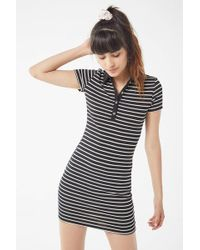 Urban Outfitters - Uo Striped Button-down Polo Mini Dress - Lyst