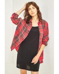 BDG - Dolman Sleeve Flannel Shirt - Lyst