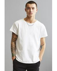 Urban Outfitters - Franklin Wide Neck Raw Cut Tee - Lyst