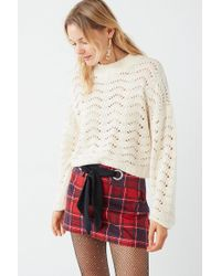 Urban Outfitters - Uo Jenni Pointelle Pullover Jumper - Lyst