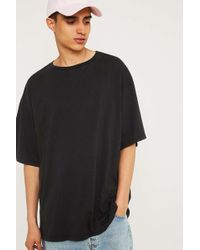 Urban Outfitters - Uo Washed Black Pigment Dyed Dad T-shirt - Lyst