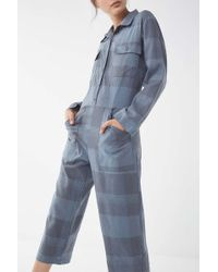 Lacausa - Plaid Collared Jumpsuit - Lyst