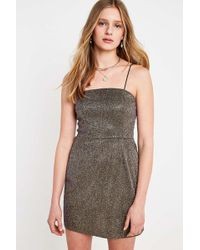 7b7fab936c Urban Outfitters - Uo Colette Gold Metallic Moonbeam Mini Dress - Womens Xs  - Lyst
