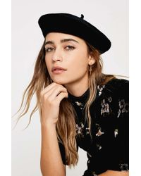Urban Outfitters Baker Boy Cap - Womens All in Black - Lyst 09e1b131f789