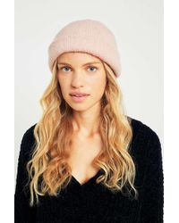 Urban Outfitters - Furry Pink Beanie - Womens All - Lyst