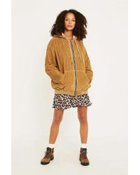 Urban Outfitters - Uo Sand Cord Hooded Bomber Jacket - Lyst