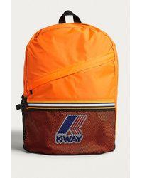 K-Way - Orange Packable Backpack - Lyst
