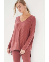 Out From Under - Harper V-neck Top - Lyst