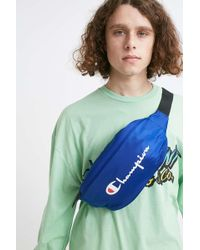Champion - Script Logo Blue Bum Bag - Lyst
