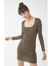 844d67c003 Lyst - Urban Outfitters Sparkle Fade 34 Sleeve Knit Skater Dress in ...