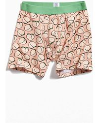 0834fe44c Lyst - ASOS Jersey Boxers With Cheeky Peach Print in Orange for Men