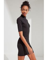 Urban Outfitters - Uo Shelly Lettuce-edge Turtleneck Dress - Lyst