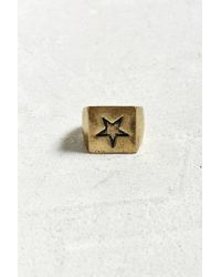 Urban Outfitters - Star Square Ring - Lyst