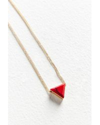 Urban Outfitters | Cecilia Delicate Triangle Pendant Necklace | Lyst