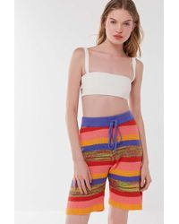 Urban Outfitters - Uo Amba Striped Sweater Basketball Short - Lyst