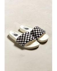 Vans - Vans Slide-on Checkerboard Sherpa Sandal - Lyst