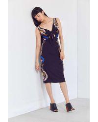 Cleobella - Edenia Embroidered Tie-front Midi Dress - Lyst