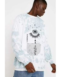 Urban Outfitters - Uo Eye Mint Tie-dye Long-sleeve T-shirt - Mens L - Lyst