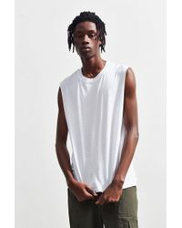 c293181567e Urban Outfitters - Uo Cutoff Washed Muscle Tee - Lyst