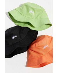 6a949a22b89 Lyst - Stussy Stock Lock Bucket Hat in Black for Men