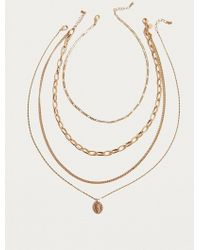 Urban Outfitters - Link Chain And Charm Layering Necklace 2-pack - Lyst