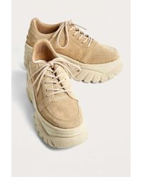 Urban Outfitters - Uo Tyson Tan Suede Chunky Trainers - Womens Uk 3 - Lyst