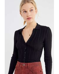 b740853b6 Urban Outfitters - Uo Reagan Collared Button-down Sweater - Lyst