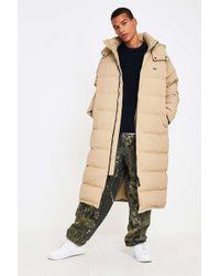 Lacoste L!ive - Sand Longline Puffer Jacket - Lyst