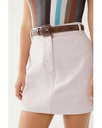 Urban Outfitters - Covered Square Buckle Belt - Lyst
