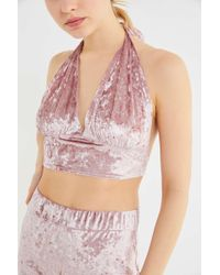 Urban Renewal - Remnants Velvet Halter Top - Lyst
