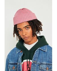 Urban Outfitters - Uo Bubblegum Pink Ribbed Beanie - Lyst