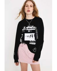 514293f8 Urban Outfitters Uo Celestial Sun Long-sleeve Skate T-shirt - Womens S/m -  Lyst