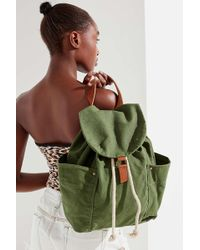 Urban Outfitters - Washed Canvas Drawstring Backpack - Lyst