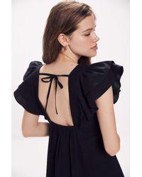 Urban Outfitters Uo La Petite Tie-back Babydoll Dress - Blue