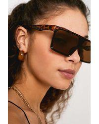 Urban Outfitters - Uo Tortoiseshell Visor Sunglasses - Lyst