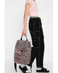 Lazy Oaf Leopard Print Backpack - Womens All