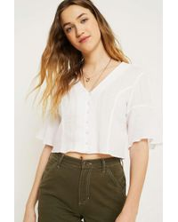Urban Outfitters - Uo Daydream White Blouse - Lyst