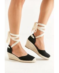 Urban Outfitters - Uo Espadrille Lace-up Wedge - Lyst