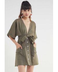 Blaque Label - Linen Belted Kimono Dress - Lyst