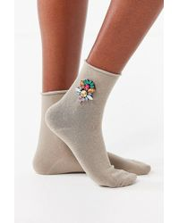 Urban Outfitters - Jeweled Crew Socks - Lyst
