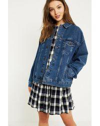 Urban Outfitters | Uo Boyfreind Clean Indigo Denim Jacket | Lyst