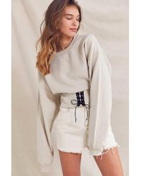 Urban Outfitters | Recycled Tie-front Corset Sweatshirt | Lyst