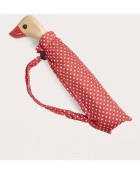 Urban Outfitters - Red Polka Dot Duck Umbrella - Lyst