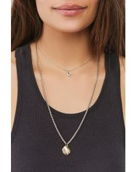 Urban Outfitters - Jade Double-chain Layering Necklace - Lyst